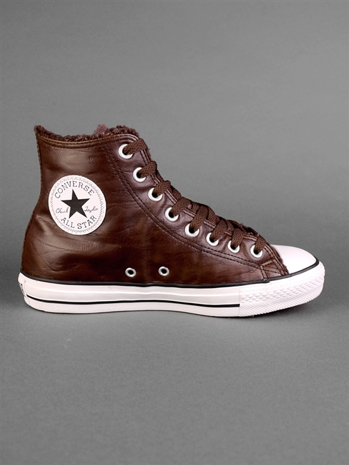 b419d065b4e46 Converse Chucks Leder mit Fell Rock chestnut mit 33% Rabatt kaufen ...