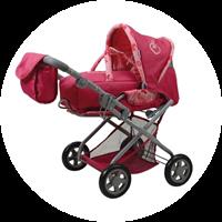 Puppenwagen Kyra in Pink