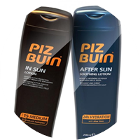 Holiday Set-In Sun Lotion LSF 15 200ml+After Sun 24h Hydration 200ml  von Piz Buin