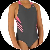 Mädchen Badeanzug Aqua Wear Shark von adidas