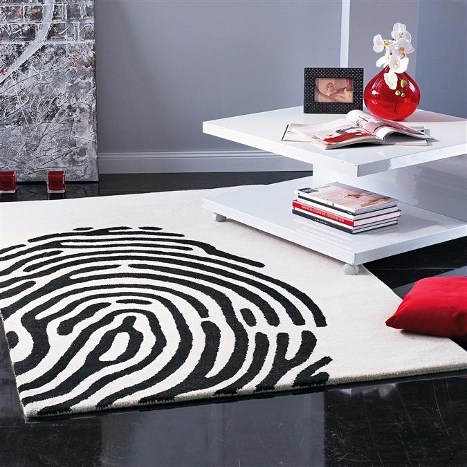 Moderner Teppich Fingerprint kaufen und 44% sparen