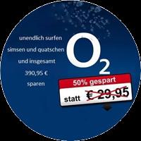 O2 4-fach Flatrate - insgesamt 390,95€ sparen