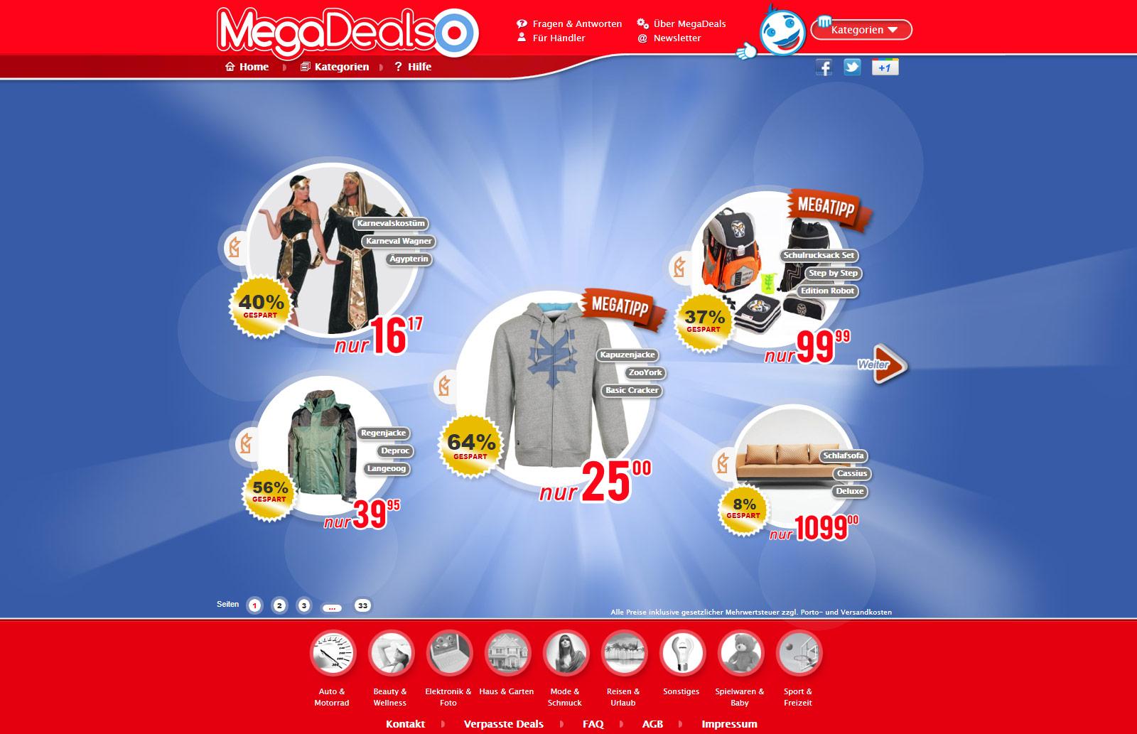 MegaDeals - Aussen gut. Innen besser
